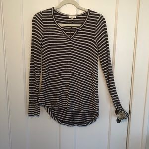 Rag Poets Blue and White Stripe Sweater Size XS